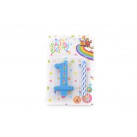 Świecznki urodzinowe 0-9 z cyferką 6cm