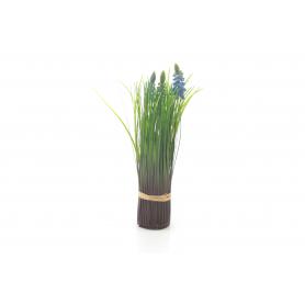 Kwiaty sztuczne szafirki w trawce 26cm