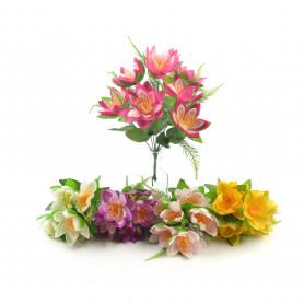 Kwiaty sztuczne lotos bukiet 33cm