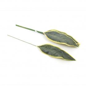 Kwiaty sztuczne liść podłużny 72cm