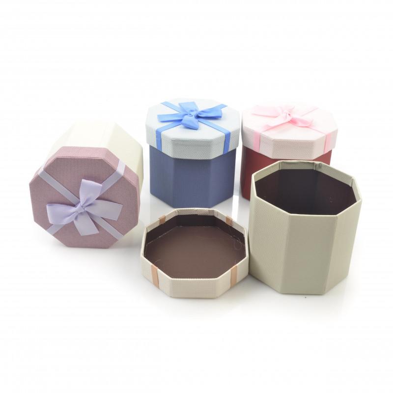 Papier FLOWER BOX sześciobok 13,5x11,5cm