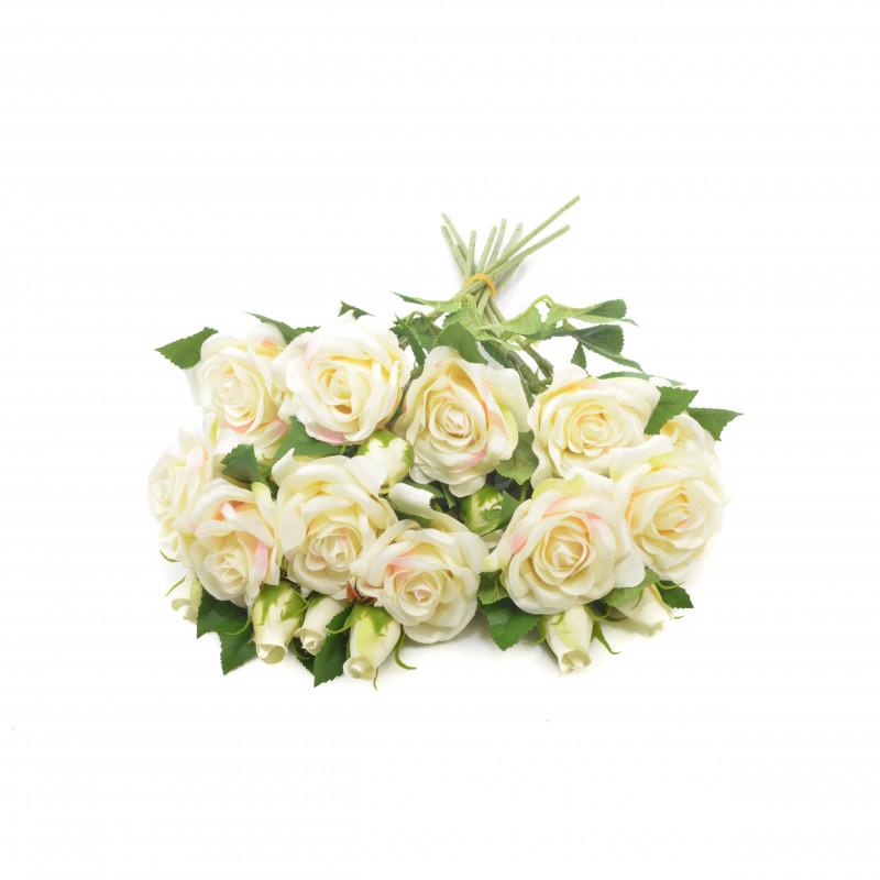 Kwiaty sztuczne róża mini pąk