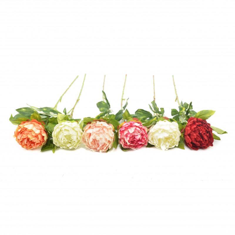 Kwiaty sztuczne piwonia pojedyńcza