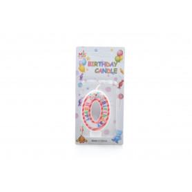 Świeczki urodzinowe 0-9 PASKI 6cm
