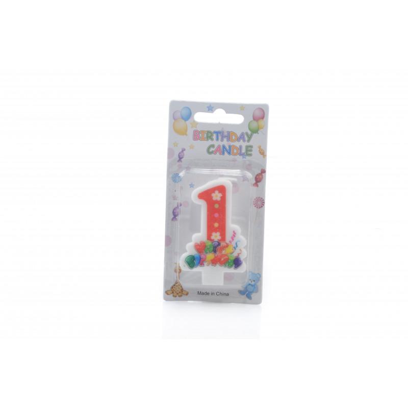 Świecznki urodzinowe 0-9 BALONY 6cm