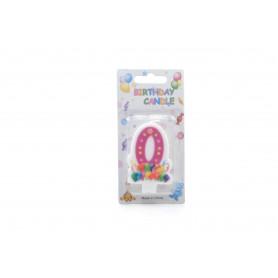 Świeczki urodzinowe 0-9 BALONY 6cm