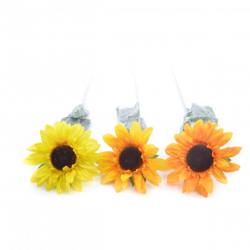 Kwiaty sztuczne Słonecznik poj.
