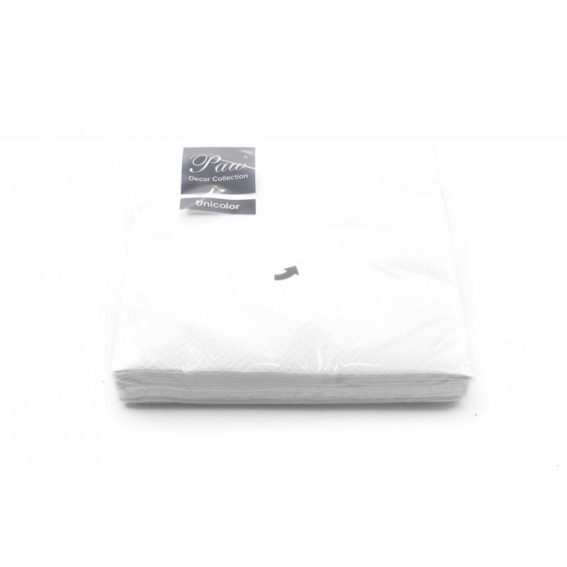 Papierowe serwetki:Unicolor białe