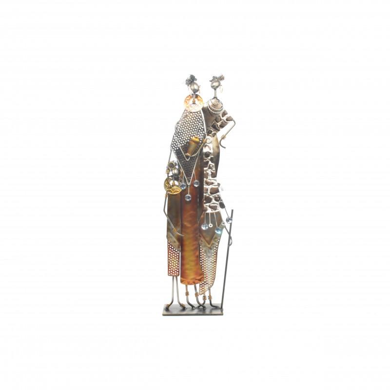 Metalowa dekoracja afryka14x10x58 cm