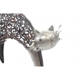 Figurka metalowa Kot