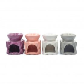 Ceramiczny kominek kwadrat future
