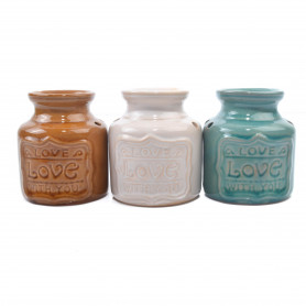 Ceramiczny kominek baryłka kolor