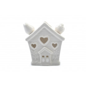 Ceramiczny kominek domek