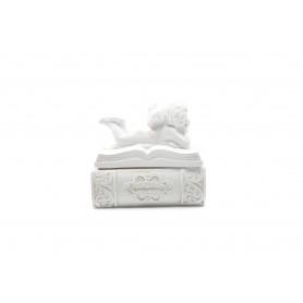 Tw.sztuczne szkatułka z aniołem 8cm