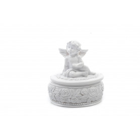 Tw.sztuczne szkatuła z aniołem 8,5cm