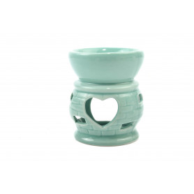 Ceramiczny kominek z sercem