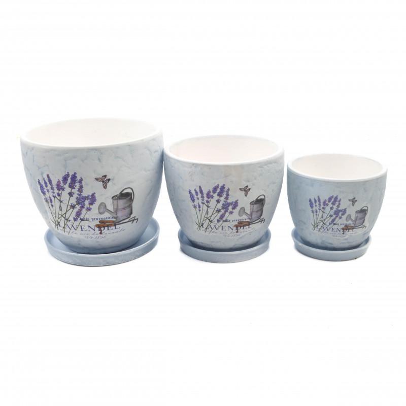 Ceramiczna doniczka LAWENDA 3w1