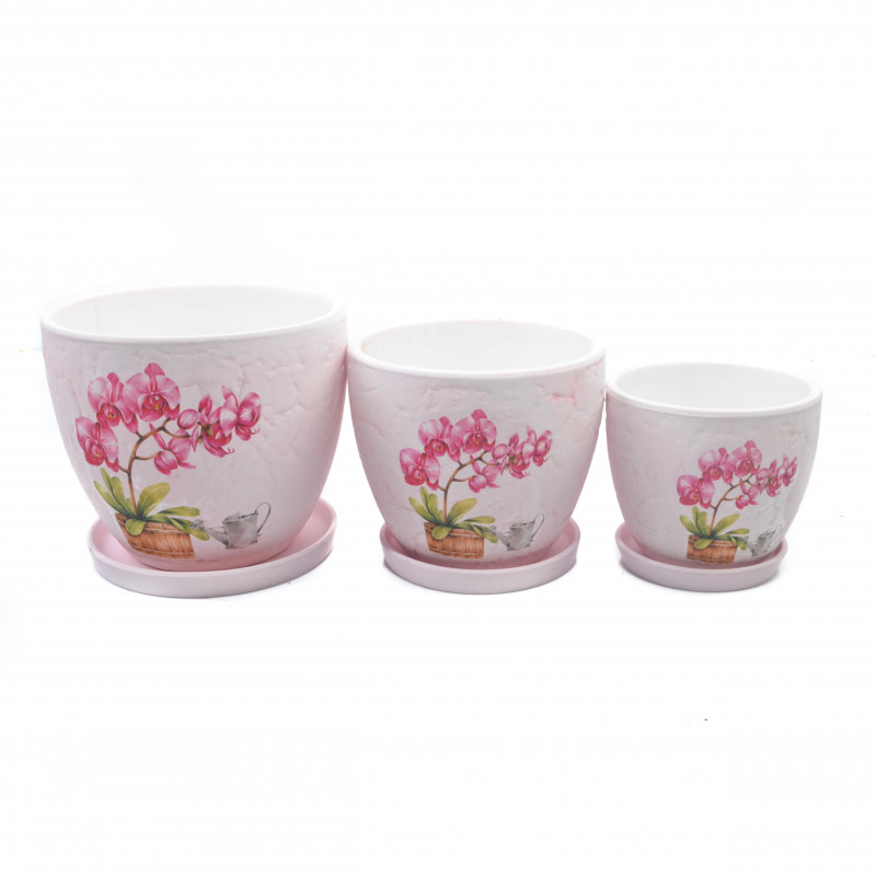 Ceramiczna doniczka ORCHIDEA 3w1