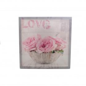 Obraz płótno kwiaty różowe