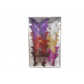 Tw.sztuczne motyle18cm 12szt/kpl
