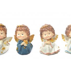 Bożonarodzeniowy aniołek złocony 9cm