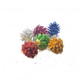Bożnarodzeniowy mix 6 szyszek dekor