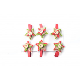 Bożonarodzeniowy spinacz DEKOR filc