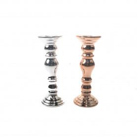 Ceramiczny świecznik metalic mix 25cm