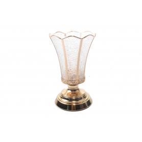 Metalowy świecznik GOLD 24cm