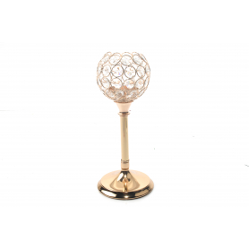 Metalowy świecznik GOLD SILVER 26cm