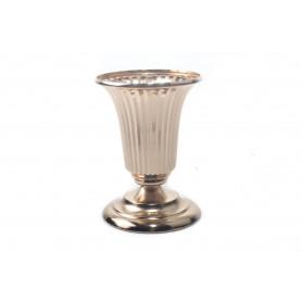 Ceramiczna złota donica ryflowana 21cm