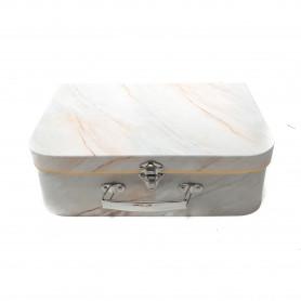 Papierowy kuferek 3w1 marmur złoto