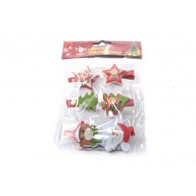 Bożonarodzeniowy spinaczz DEKOR filc MIX