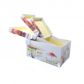 Papierowy zestaw 3 kuferków