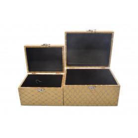 Drewniany kuferek20x16x13,16x12x11cm