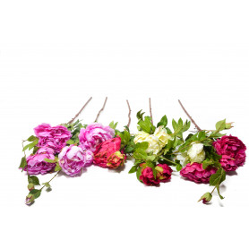 Искусственные цветы: веточка пионии