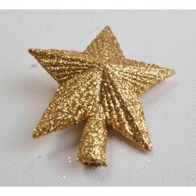 Золотая блестящая звезда