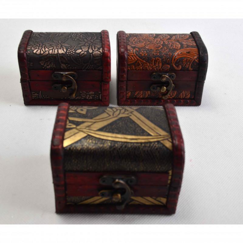 drewniane szkatuły