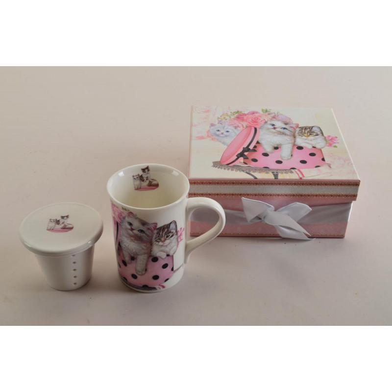 Ceramika- kubek z zaparzaczem 250ml