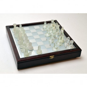 Стекло - Игра с деревянным декором