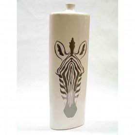 Ceramika- wazon wysoki ZEBRA silver