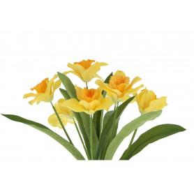 kwiaty sztuczne bukiet żonkil