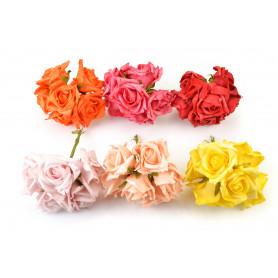 RÓŻYCZKI PIANKOWE (bukiecik)-Kwiaty sztuczne
