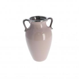 Ceramiczny wazon beż 20x12x12 cm