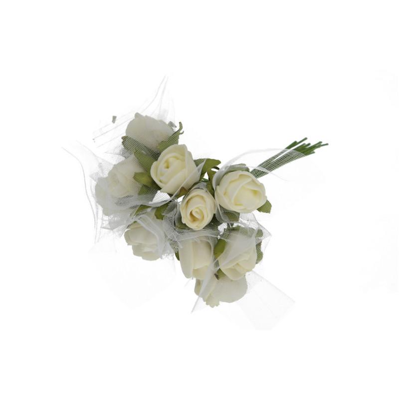 Kwiaty sztuczne wiązka różyczki piankowej