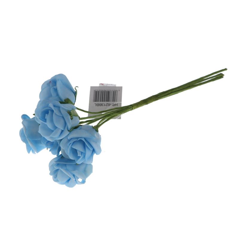 Kwiaty sztuczne róża pianka x6