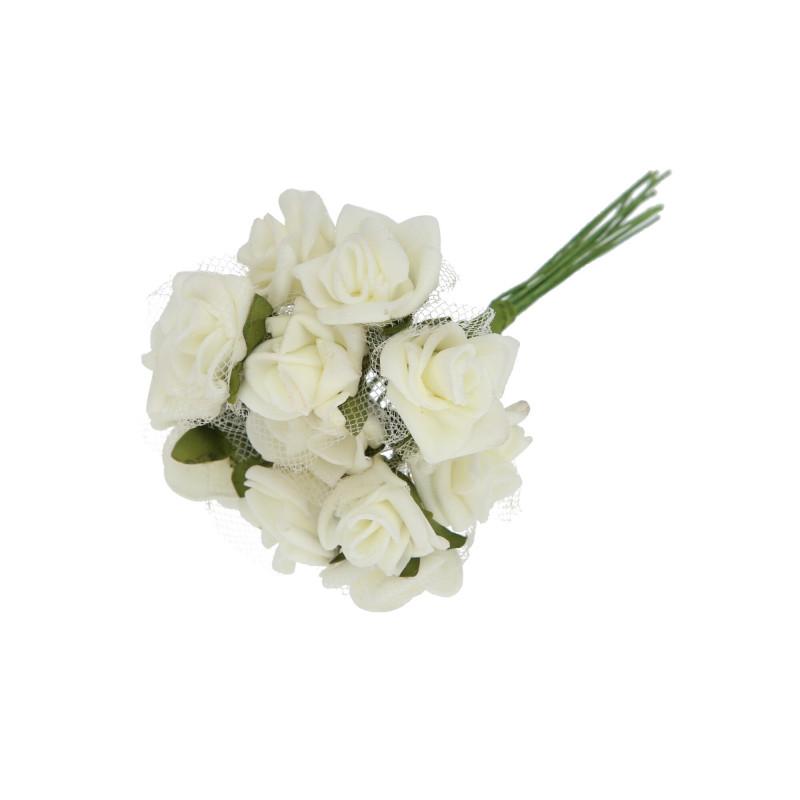 RÓŻYCZKA Z SIATKĄ (bukiet)-Kwiaty sztuczne