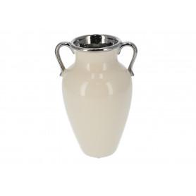 Ceramiczny wazon krem 15x25