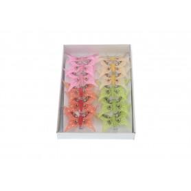 Art.dekoracyjny motylki 8cm 12szt