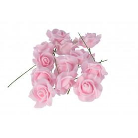 Róża  pianka 12szt opak